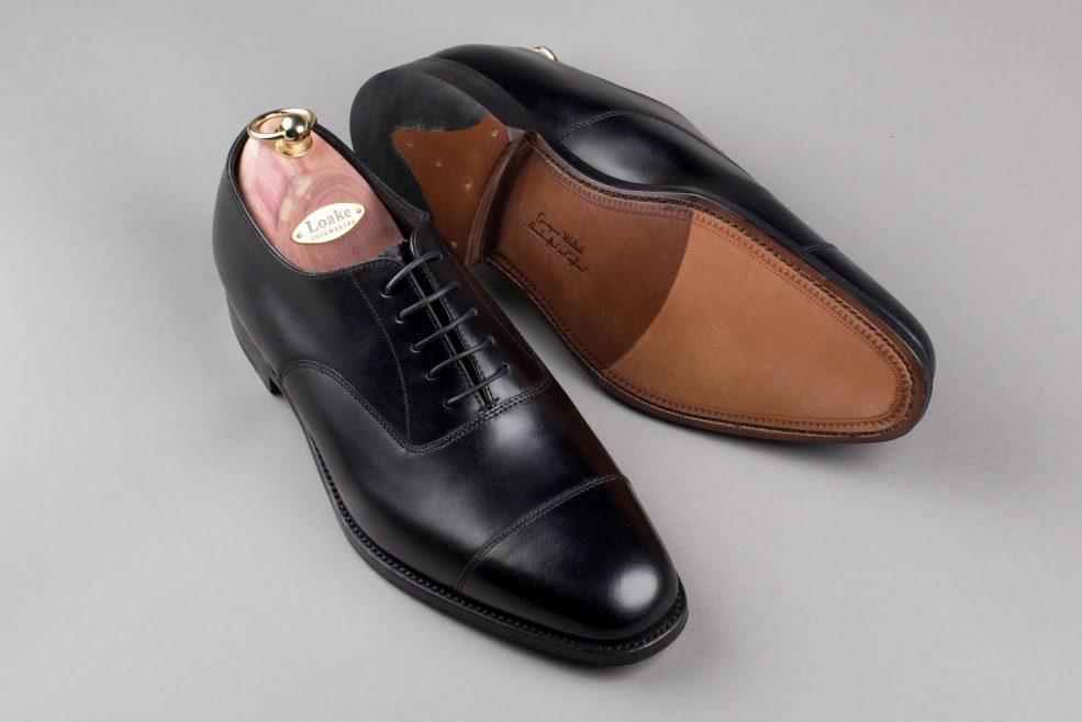 d089d580 Loake 1880 Aldwych Black Calf Oxford - Pinkomo